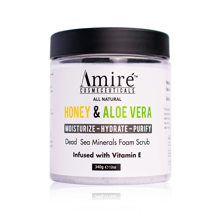 Honey aloe vera body scrub