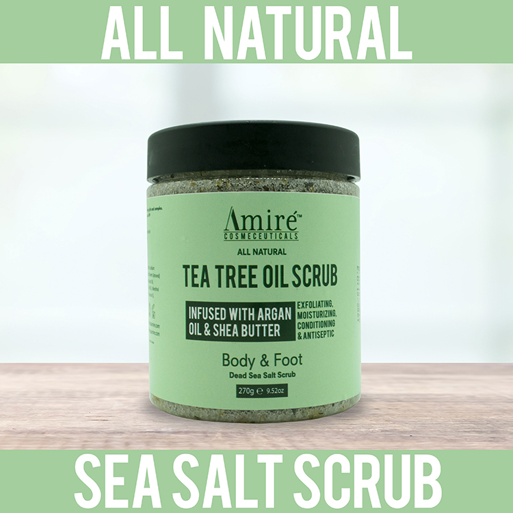 inexpensive tea-tree-scrub argan oil shea butter dead sea salt all natural