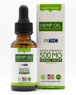 Premium Hemp Extract Oil – 500MG CBD Oil Tincture for Humans – 1oz Dropper Bottle