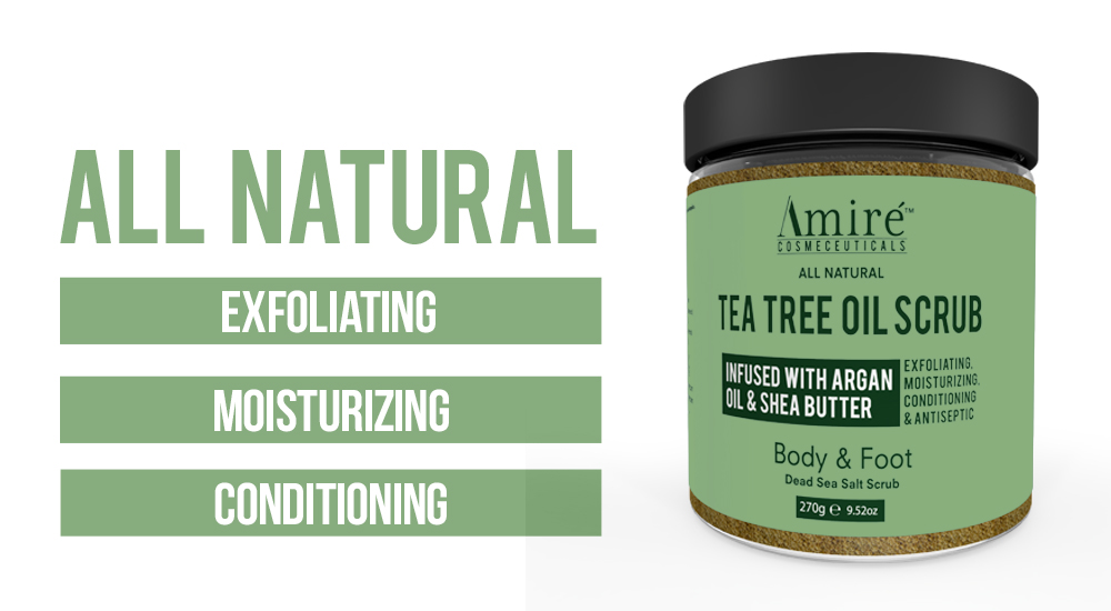 All Natural Tea Tree Oil Scrub by Amire