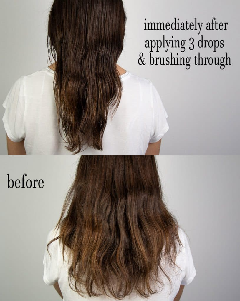 before-and-after-moringa-oil haircare treatment amire cosmetics healthy hair