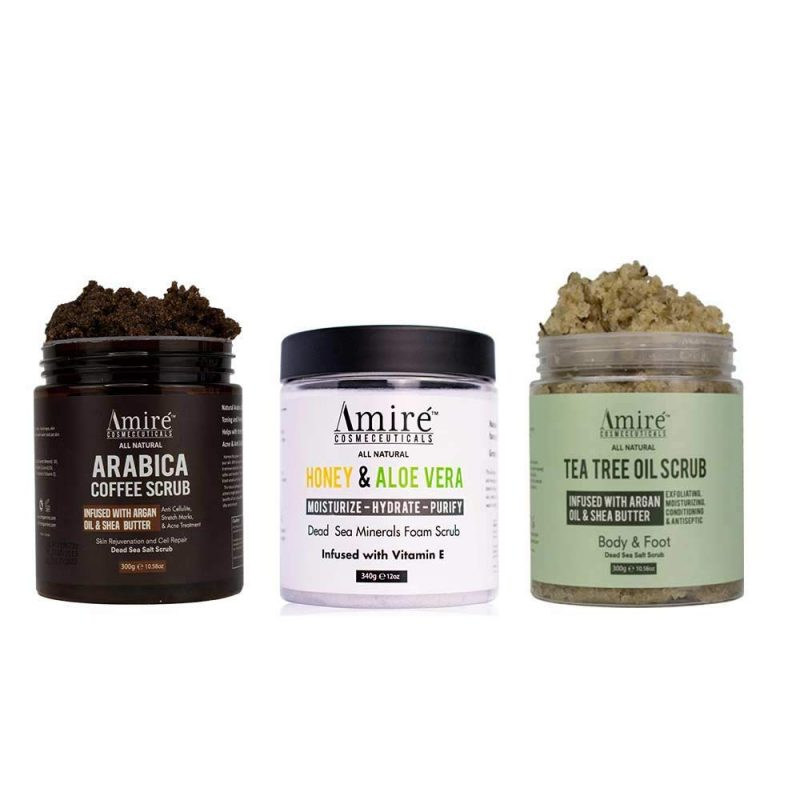 Buy 1 get 1 free dead sea salt body scrubs