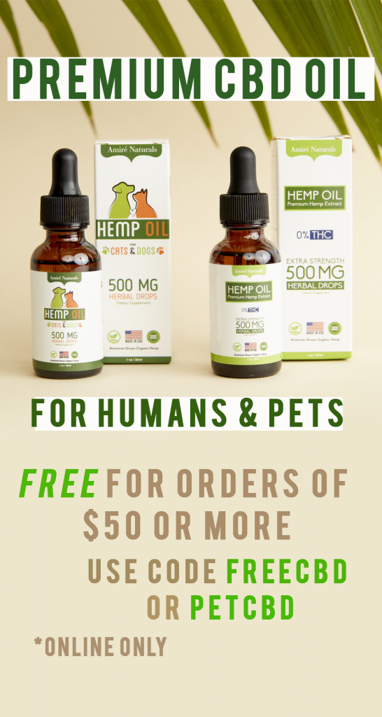 FREE PET OR HUMAN CBD by Amire Cosmetics